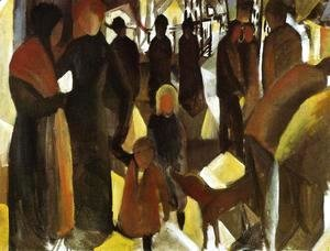 August Macke - Leave-Taking (Abschied)  1914