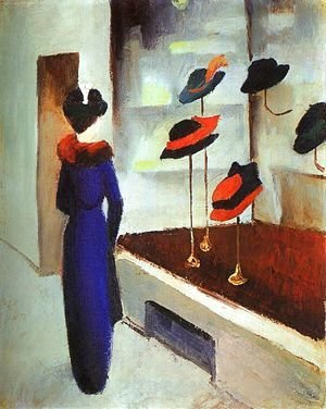 August Macke - Milliner's Shop (Hutladen)  1913