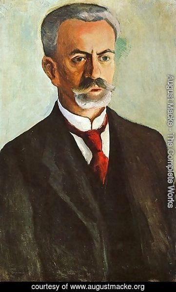 August Macke - Portrait of Bernhard Koehler  1910