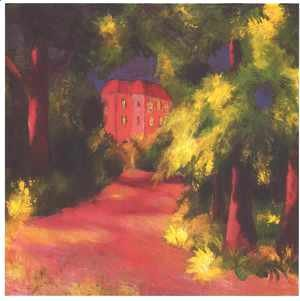 August Macke - Red House in a Park 1914