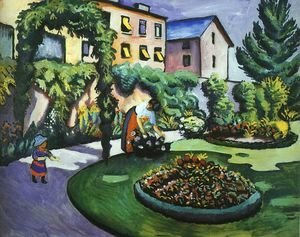 August Macke - The Mackes' Garden at Bonn  1911
