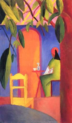 August Macke - Turkish Cafe II  1914