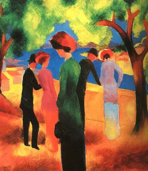August Macke - Woman in a Green Jacket  1913
